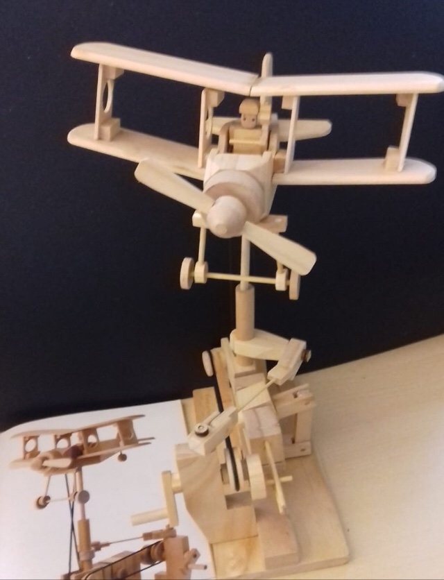 Bi plane wooden kit by timber kits